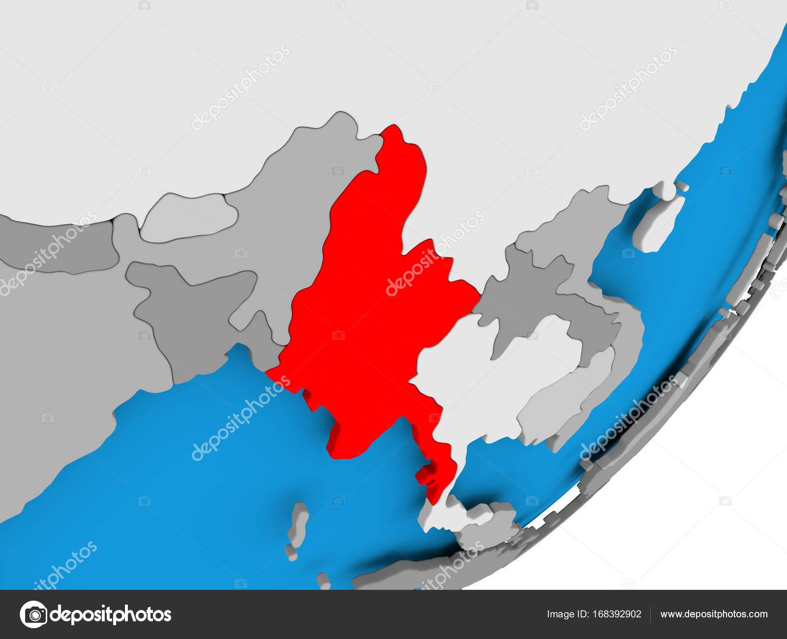Karte Myanmar.Karte Von Myanmar Stockfoto Tom Griger 168392902