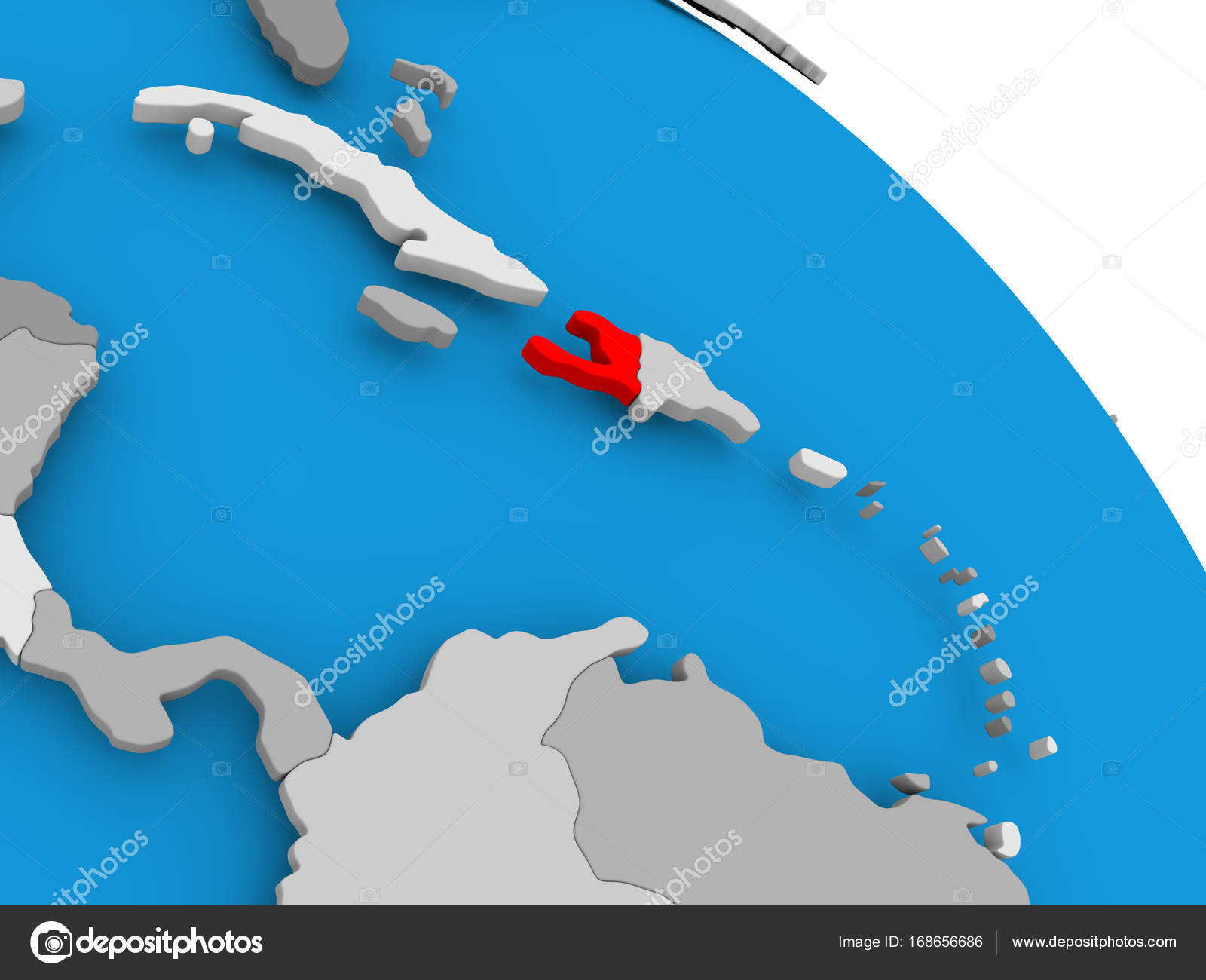 Haiti in red on map stock photo tomiger 168656686 illustration of haiti highlighted in red on globe 3d illustration photo by tomiger gumiabroncs Images