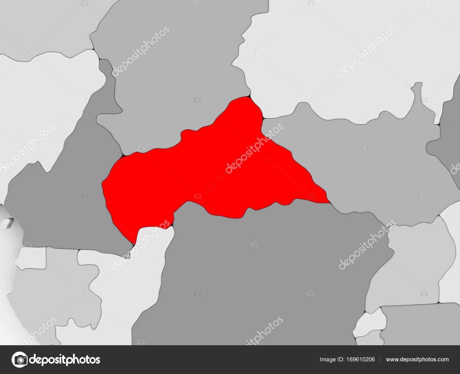 Carte De Lafrique Centrale Photographie Tomgriger 169610206