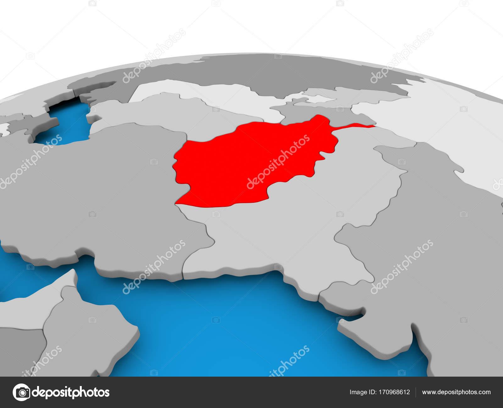 Afghanistan On Political Globe Stock Photo C Tom Griger 170968612