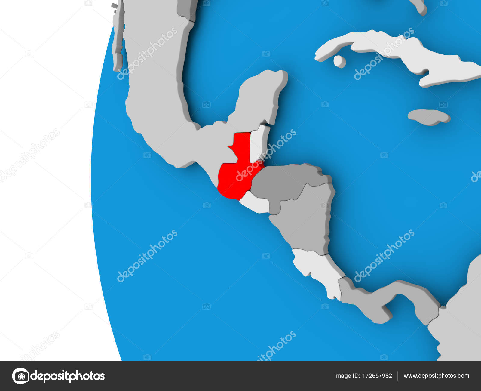 Map Of Guatemala On Political Globe Stock Photo C Tom Griger