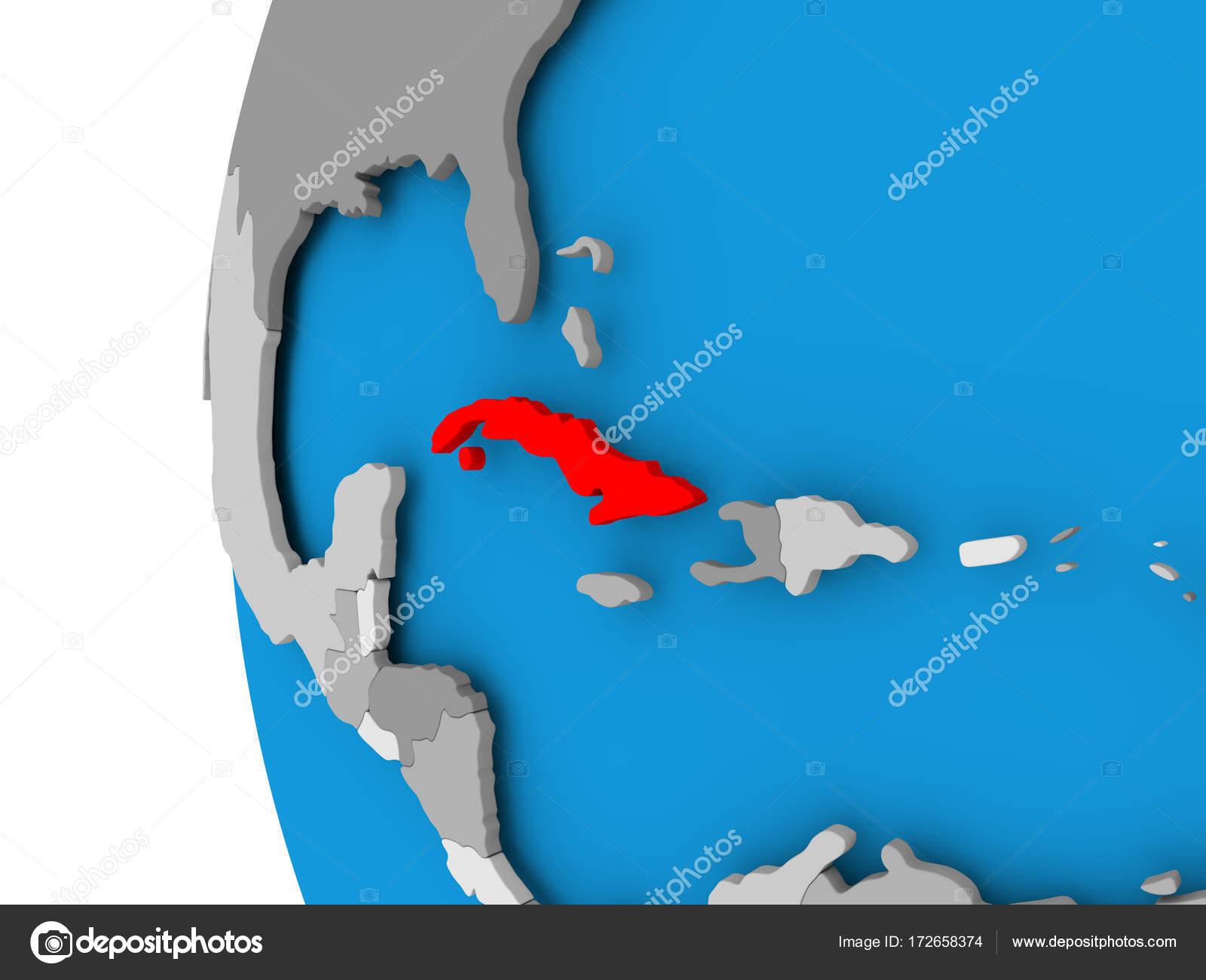 Carte Cuba Monde.Carte De Cuba Sur Le Monde Politique Photographie Tom