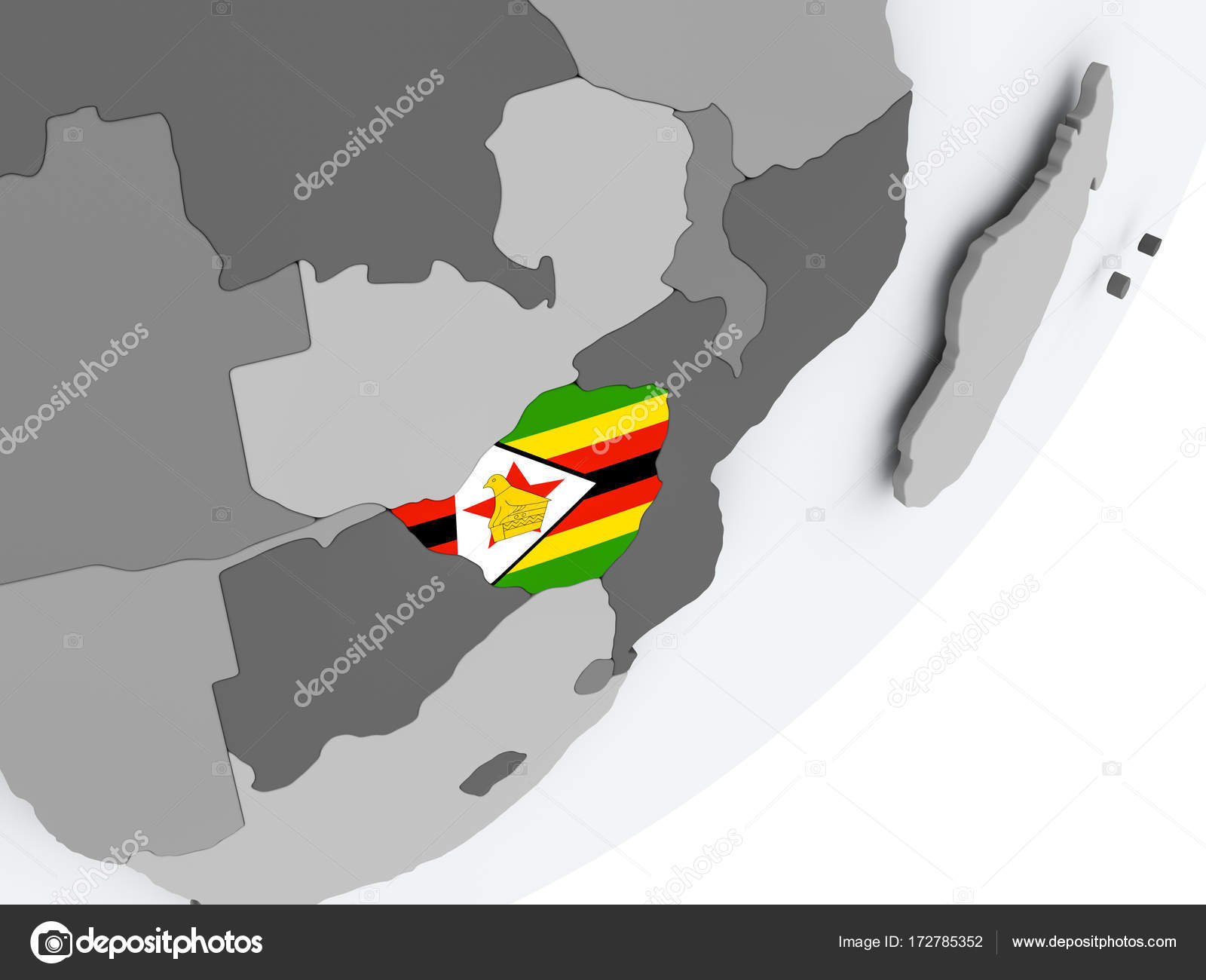 Flag of Zimbabwe on map — Stock Photo © tom.griger #172785352 Zimbabwe On Map on mafia island on map, tasmania australia on map, uganda on map, sudan on map, francia on map, sahel on map, buganda on map, libreville on map, rwanda on map, tanzania on map, namibia on map, british somaliland on map, angola on map, eastern africa on map, chad on map, nicaragua on map, axum on map, basutoland on map, yuan dynasty on map, ghana on map,