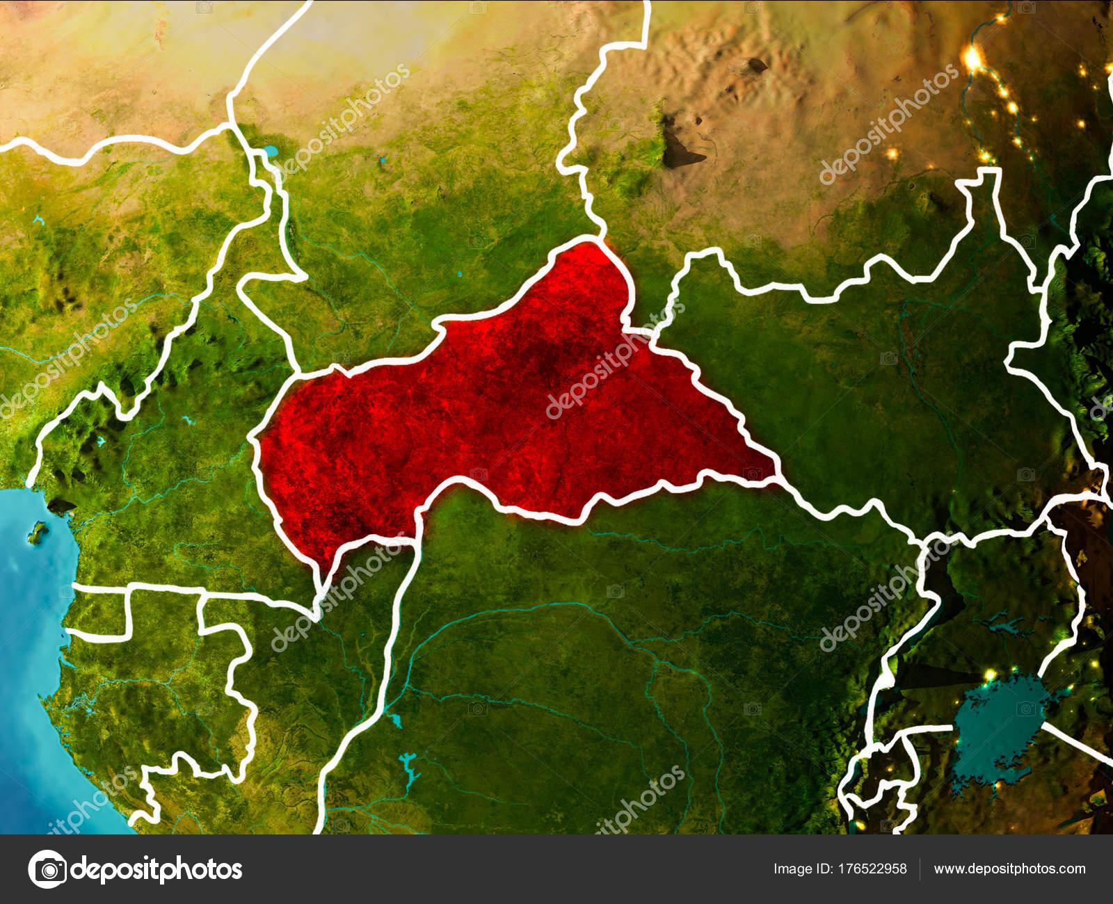 Carte De Lafrique Centrale Sur La Terre Photographie Tomgriger