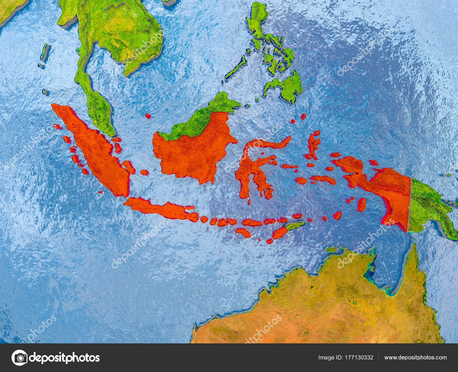 Indonesien Karte.Karte Von Indonesien Stockfoto C Tom Griger 177130332