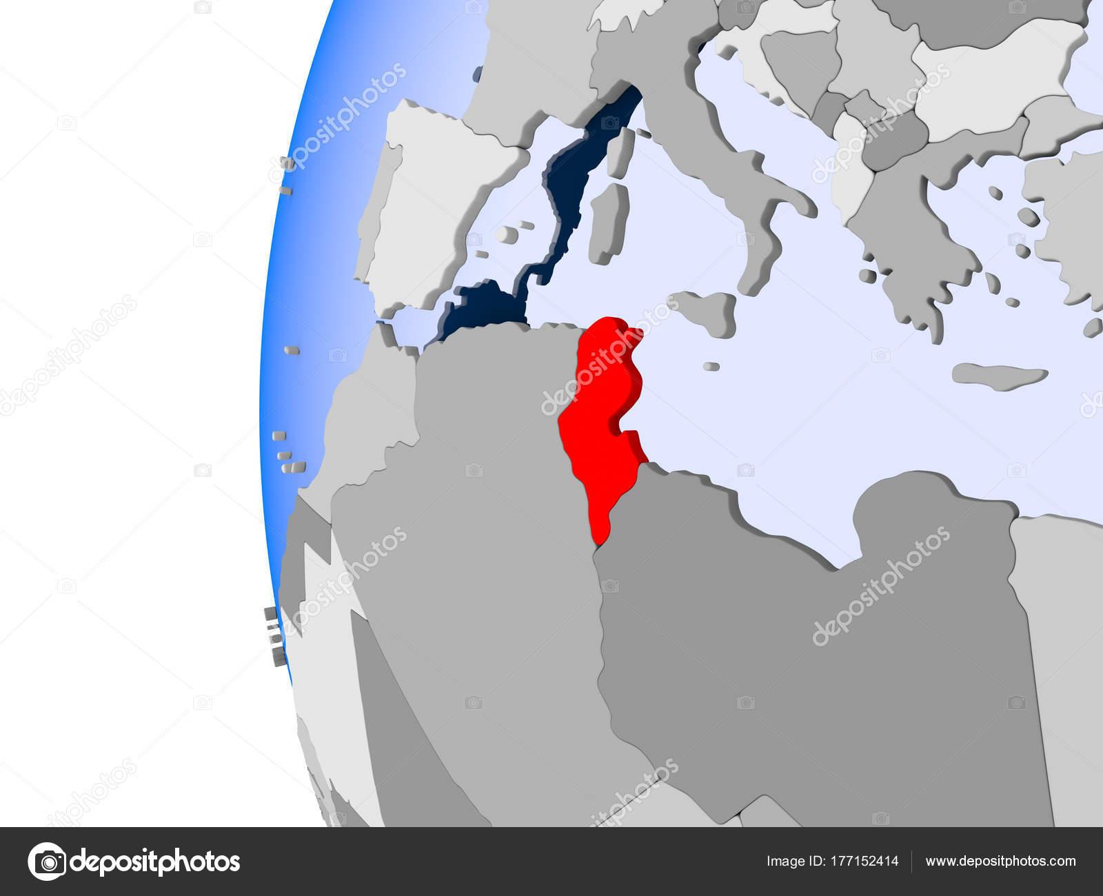 Tunesien Karte Welt.Karte Von Tunesien Auf Politische Welt Stockfoto C Tom