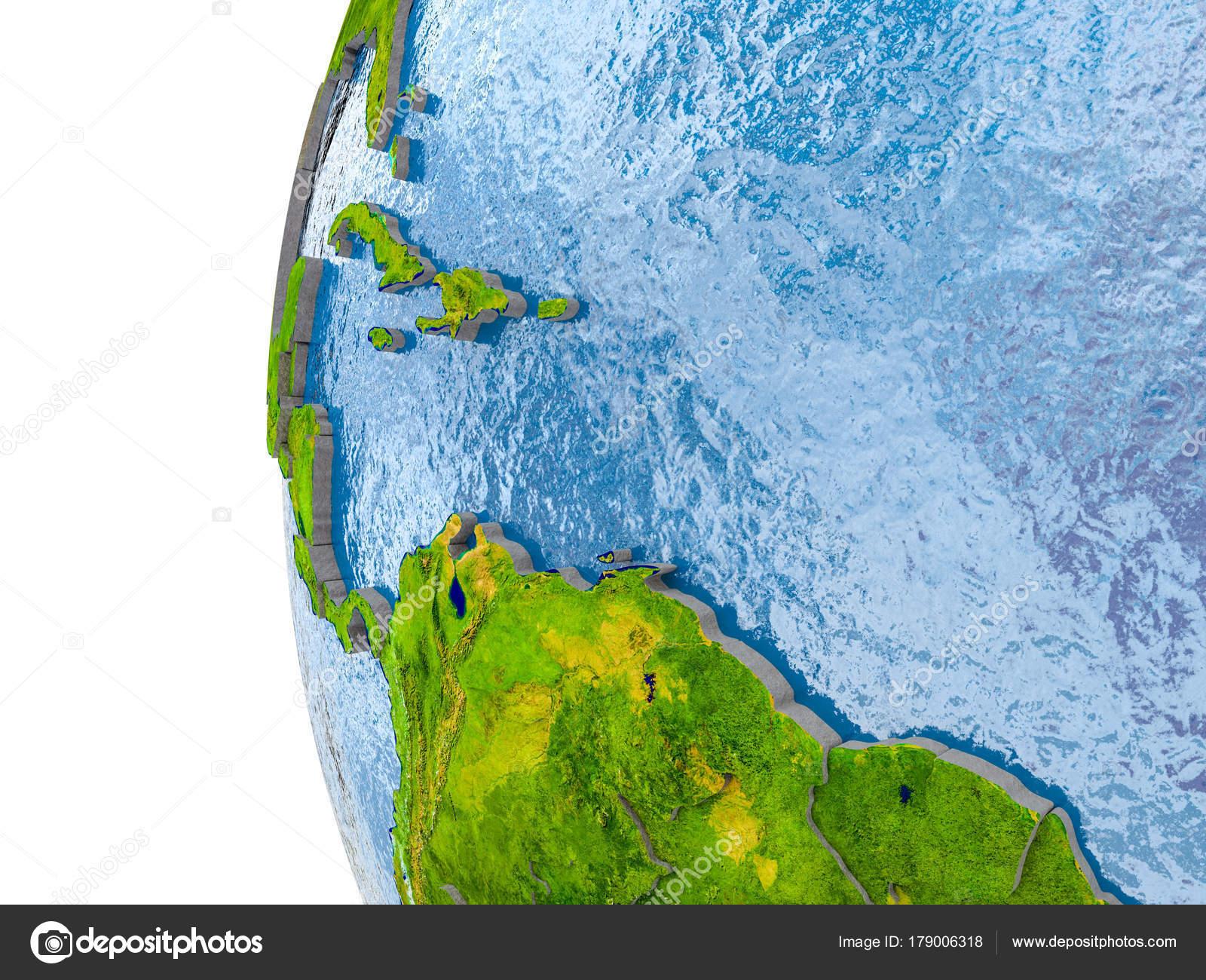 Karibik Karte Welt.Karte Der Karibik Nach Vorbild Der Ganzen Welt Stockfoto Tom