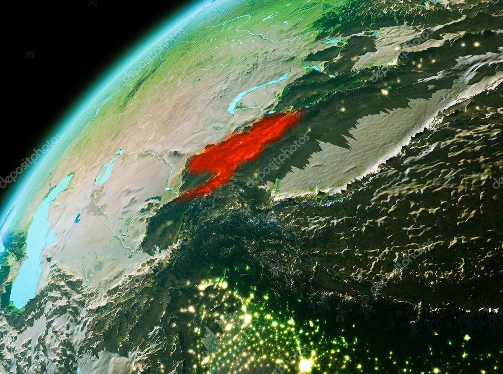 арабских фото киргизии из космоса восточными