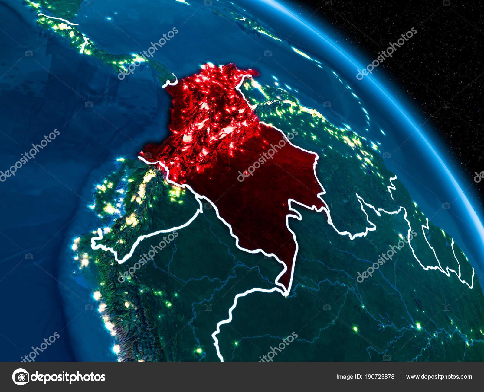 Imágenes Vista De La Tierra Satelital Vista Satelital De Colombia