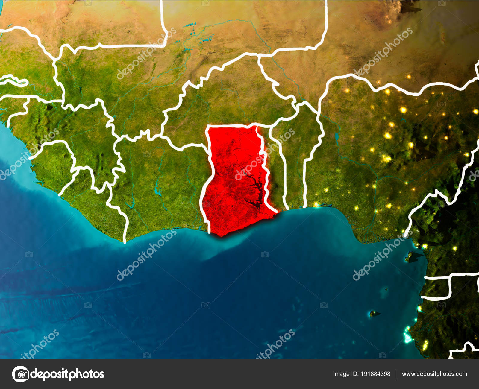 Map of Ghana on Earth — Stock Photo © tom.griger #191884398 Ghana On Map on mauritania on map, nepal on map, guatemala on map, west africa map, borneo on map, egypt on map, belize on map, mali on map, madagascar on map, liberia on map, hungary on map, brazil on map, cuba on map, benin on map, zimbabwe on map, italy on map, indonesia on map, the gambia on map, nigeria on map, thailand on map,