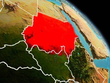 Sudan in morning from orbit