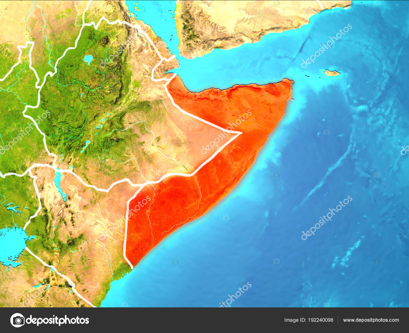 Map of Somalia — Stock Photo © tom.griger #192240098