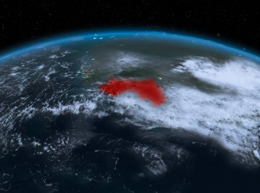Guinea from space at night