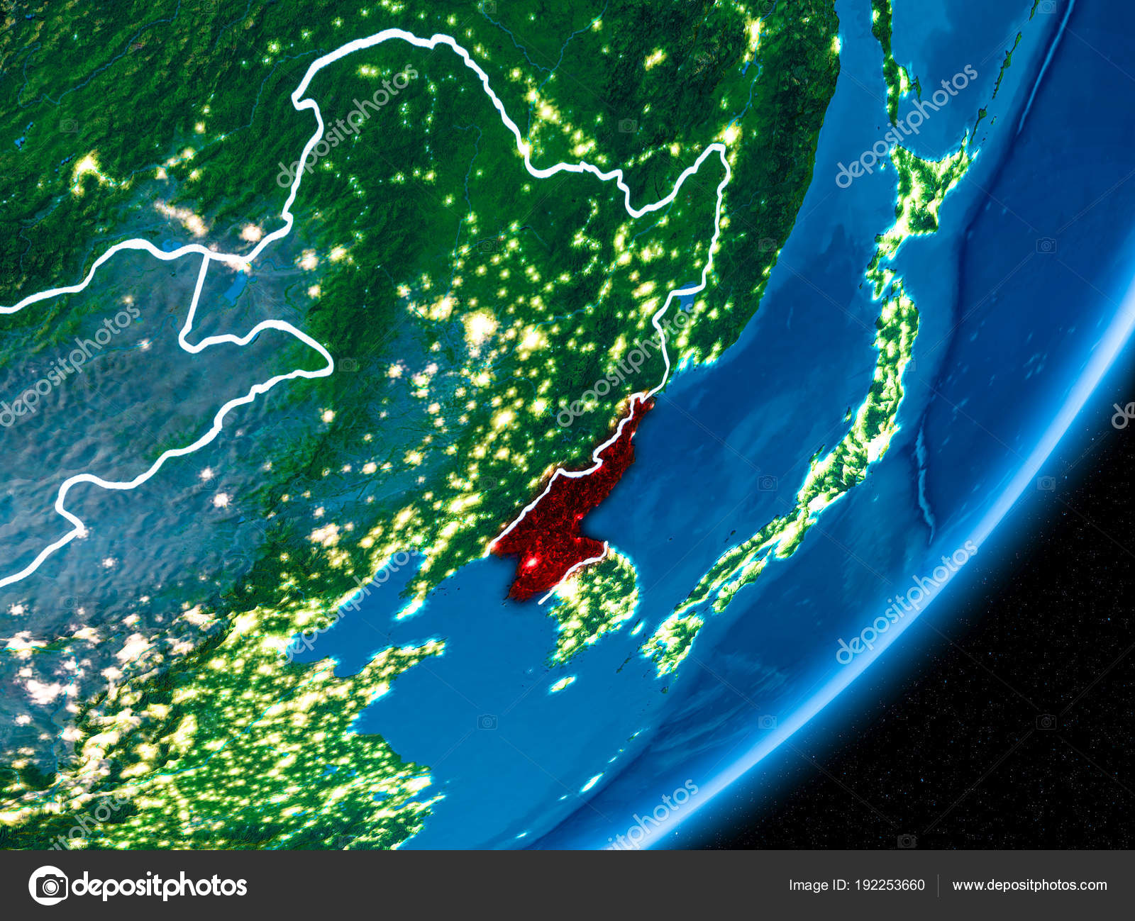 Night Over North Korea Stock Photo C Tom Griger 192253660
