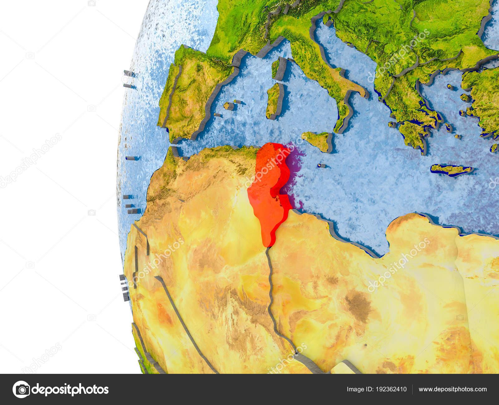 Tunesien Karte Welt.Karte Von Tunesien Nach Vorbild Der Ganzen Welt Stockfoto Tom
