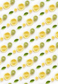 fresh halved citrus fruits