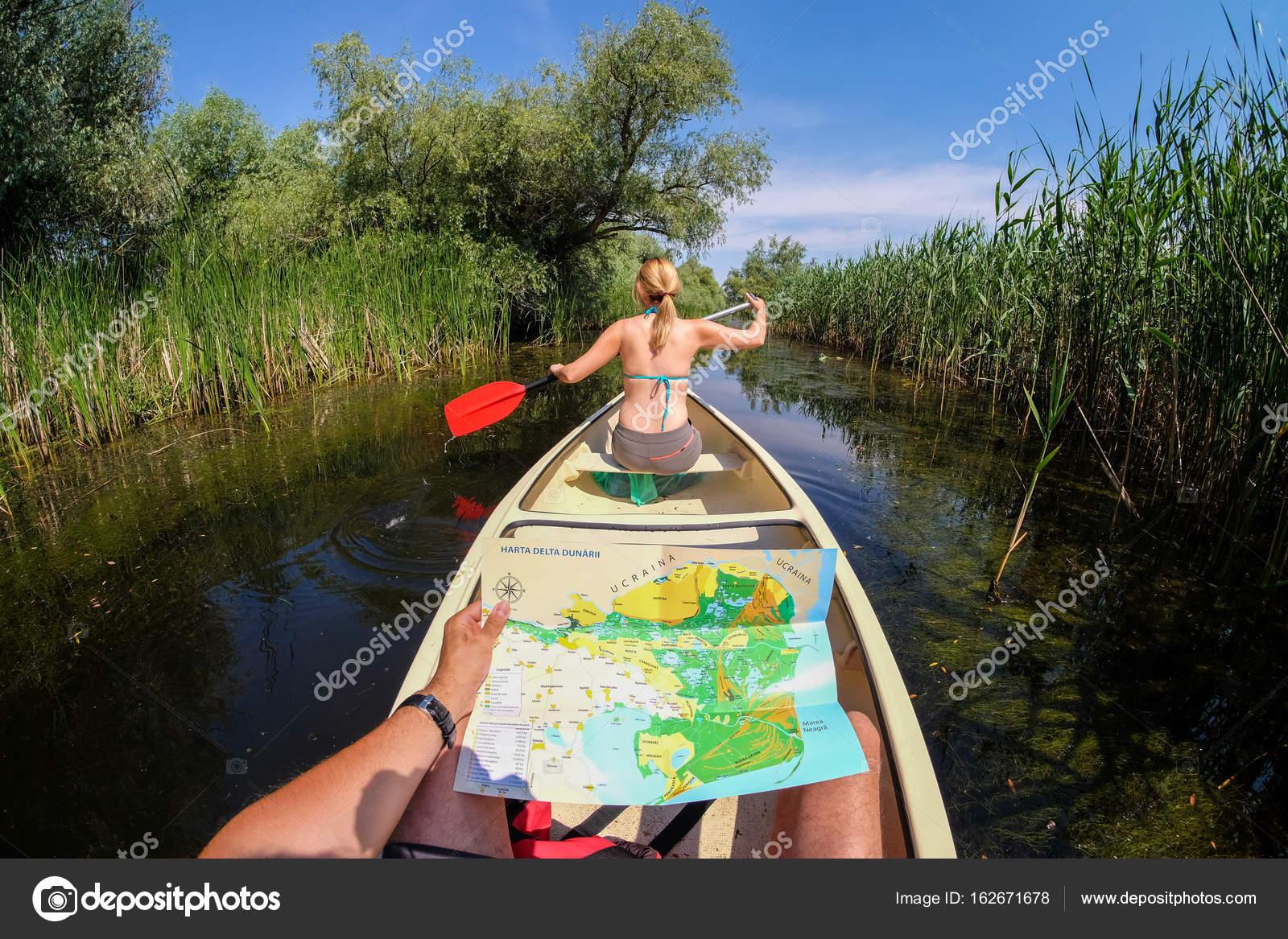 Danube Delta Romania June 2017 Tourists Discovering Danube De