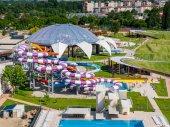 Photo Oradea, Romania - May 17, 2017: Aerial view of Oradea waterpark