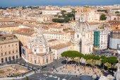 Fotografie Rome skyline and Trajans Column in Rome, Italy