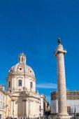 Fotografie Trajans Column and Forum in Rome, Italy