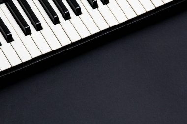 The keys of a new piano