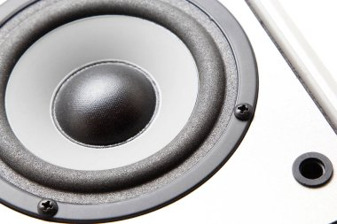 Audio speakers stereo system on a white background