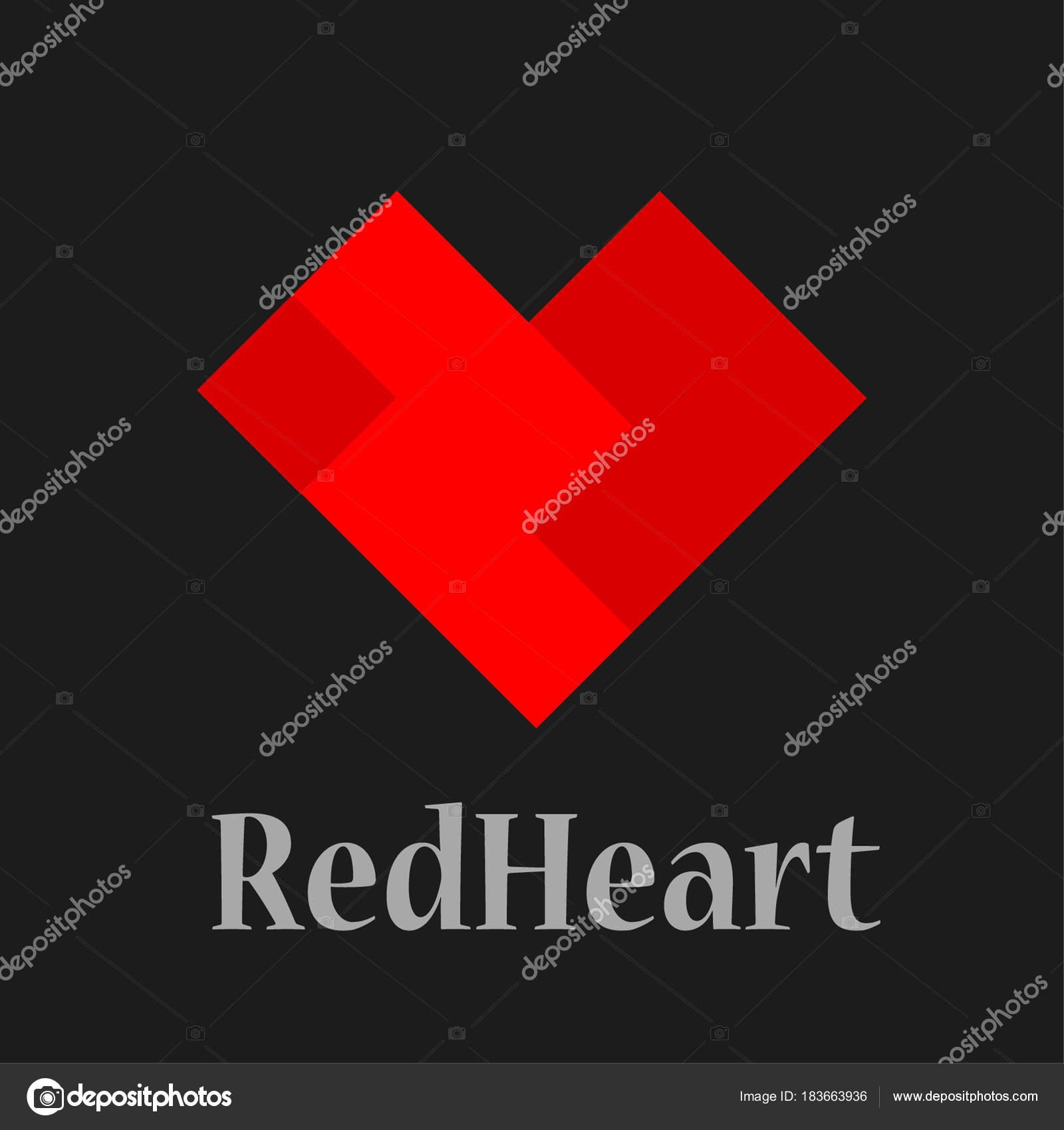 Herz-Logo-Design-Vektor-Vorlage. St. Valentin-Tag der Liebe sym ...