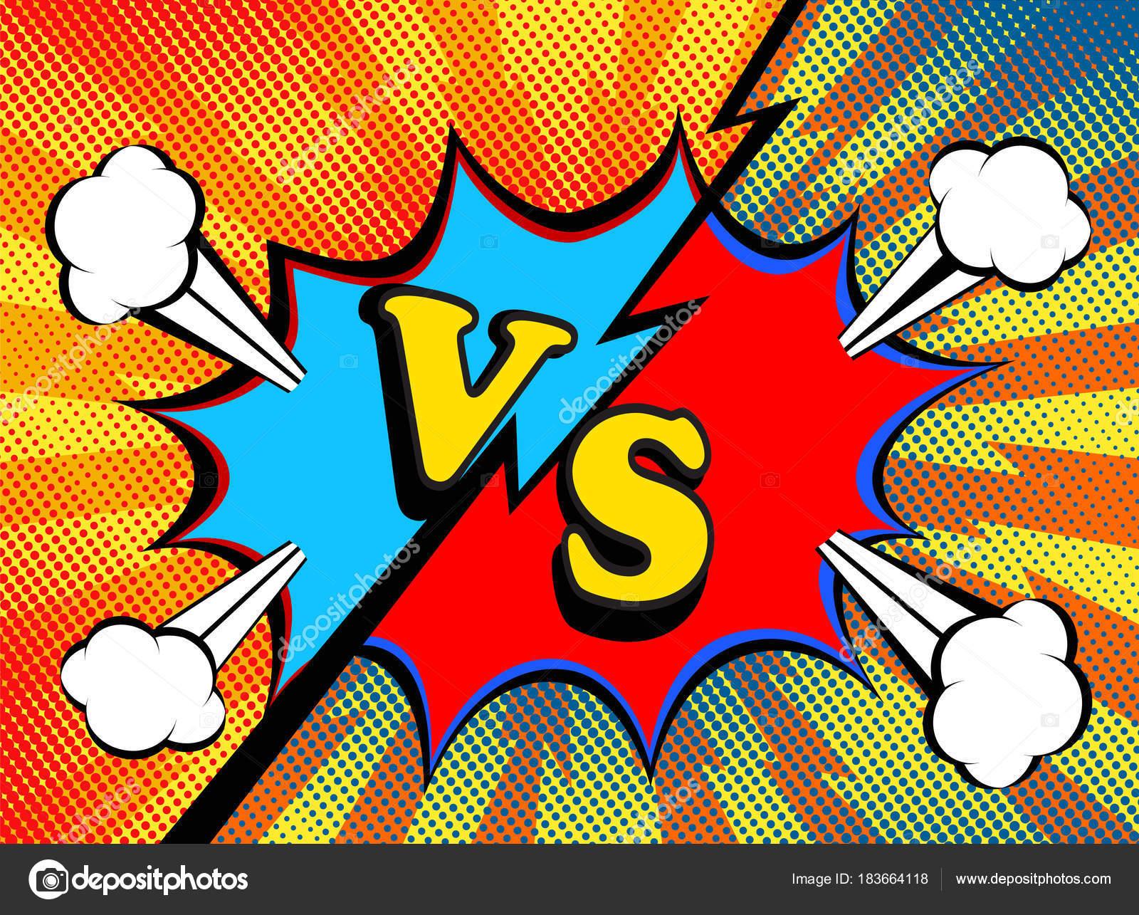 versus vs fight backgrounds pop art retro comic style design stock vector vovanivan. Black Bedroom Furniture Sets. Home Design Ideas