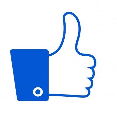 thumb up, i like it, stock vector illustration