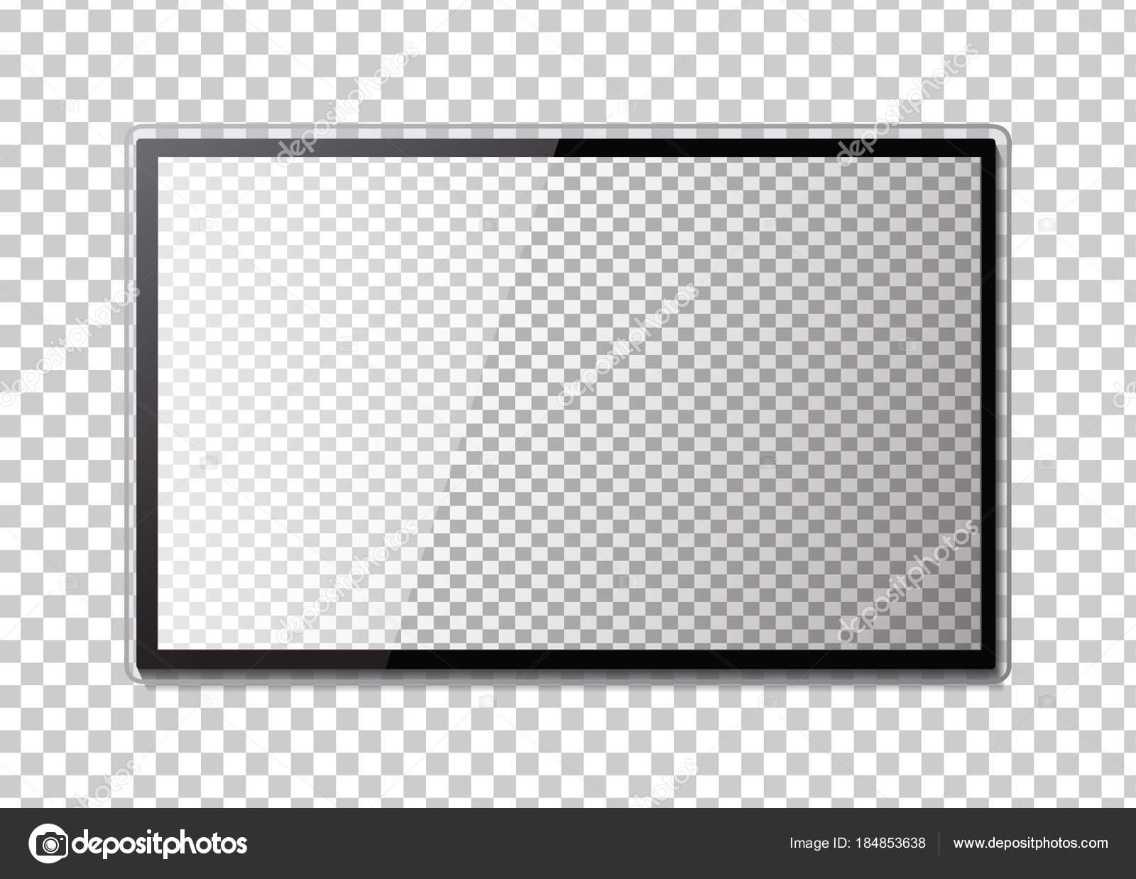 Rahmen Der Tv Leeren Fuhrte Monitor Des Computers Oder Schwarzen
