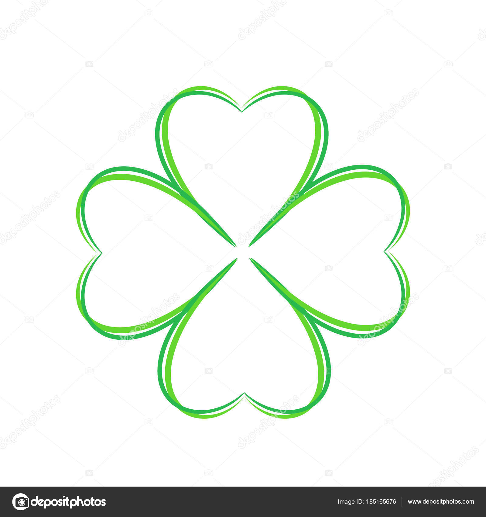 photograph regarding Printable Four Leaf Clover named Printable 4 leaf clovers 4 leaf environmentally friendly clover ahnd