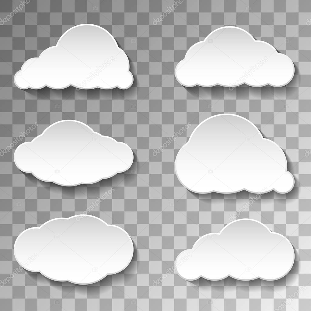 Messages Clouds Icon on transparent background. Weather Symbols.