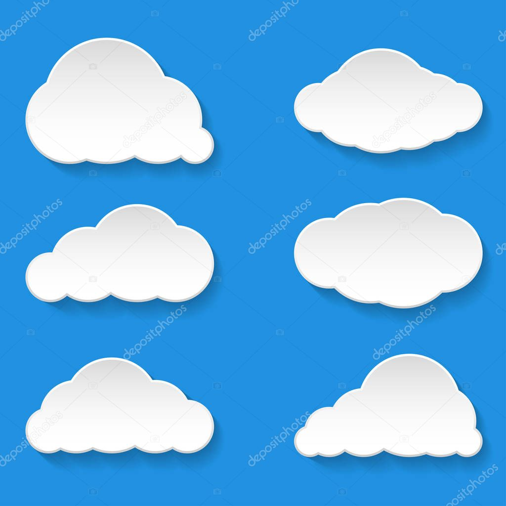 Messages Clouds Icon. Weather Symbols.