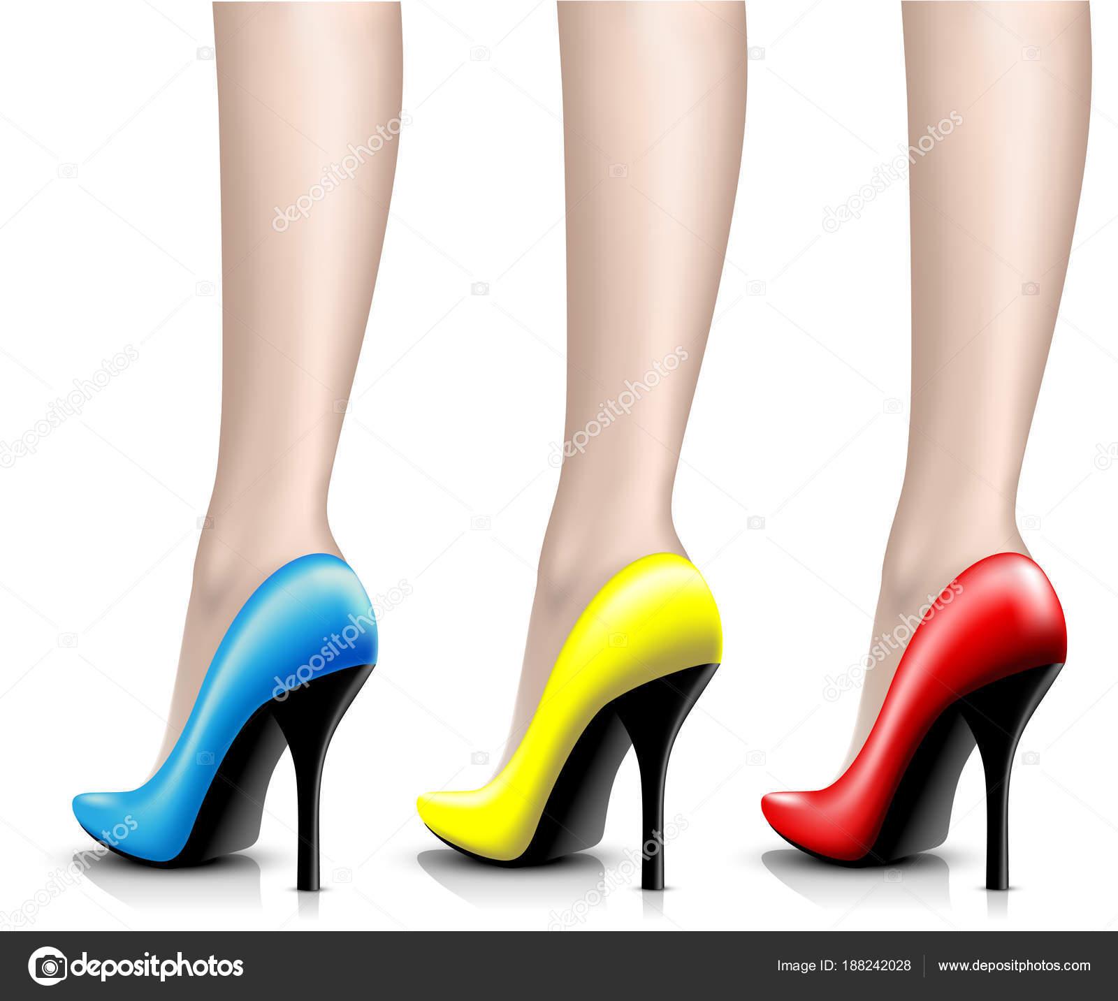 c512d7624 Ilustração Das Mulheres Sapatos Verniz Perna Fundo Branco Ícone Vector —  Vetores de Stock