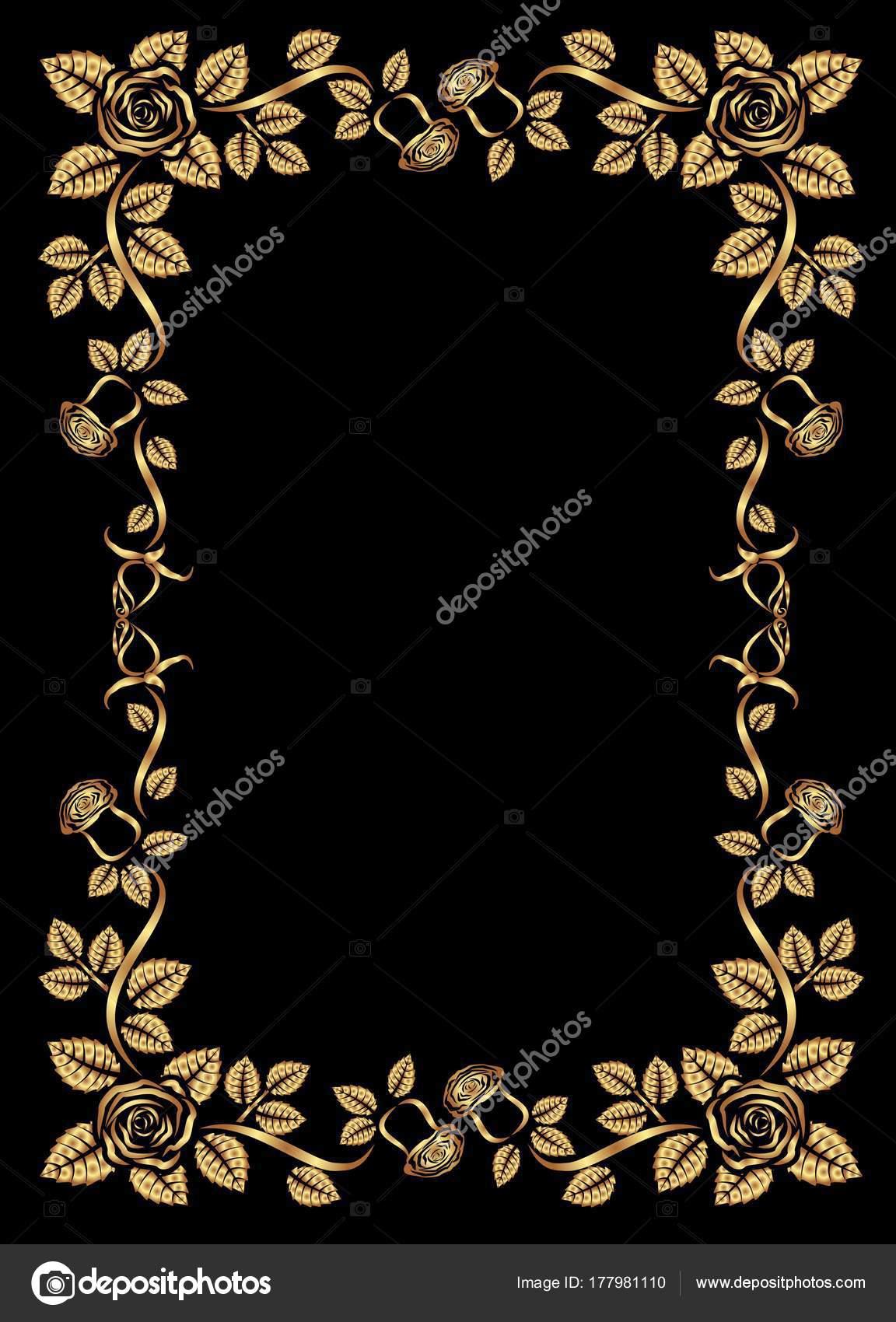 gold frame border vector. Unique Gold Golden Border  Vector Illustration U2014 Stock Vector And Gold Frame Border
