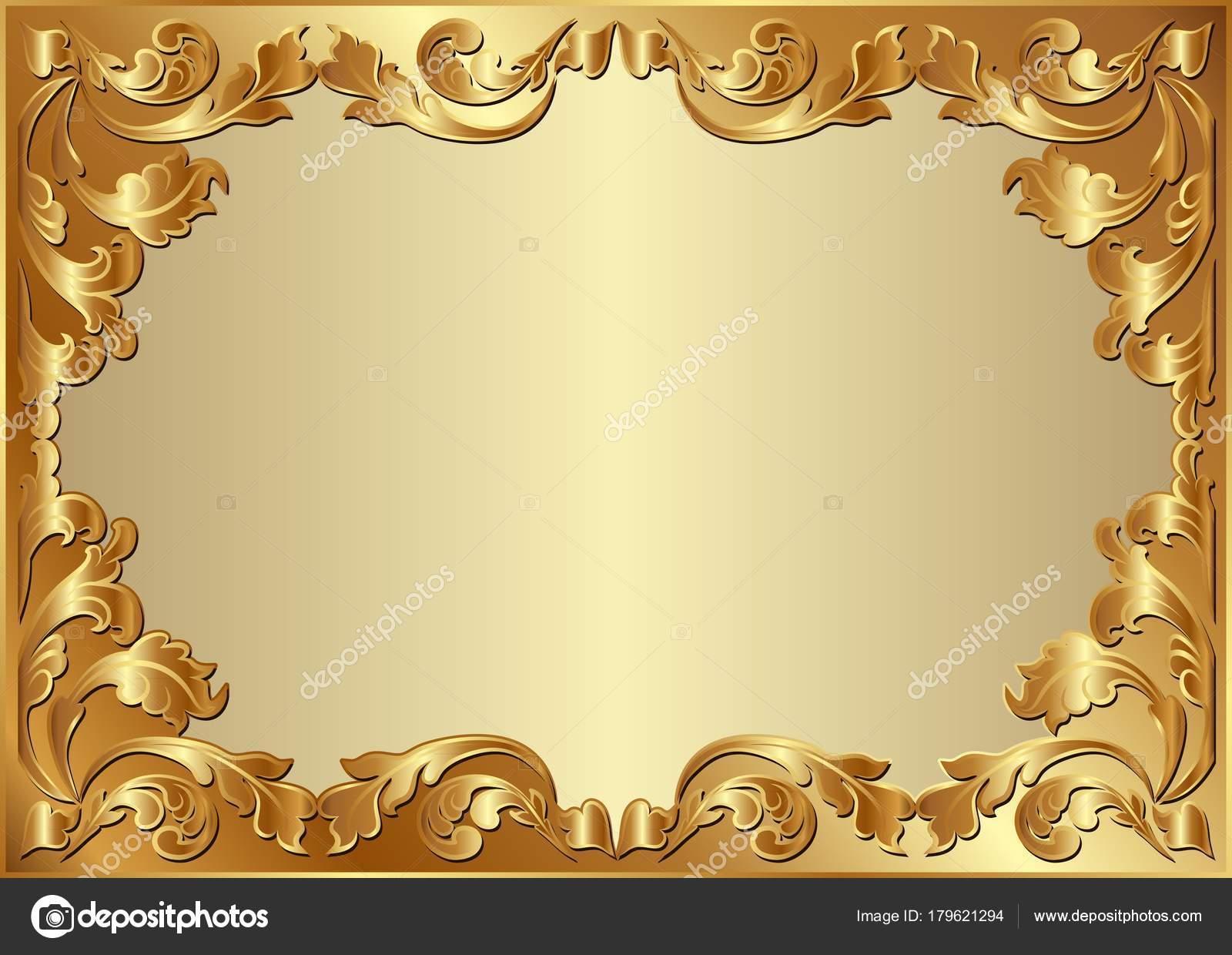 Floral Ornament Vector Free: Golden Background Floral Ornaments