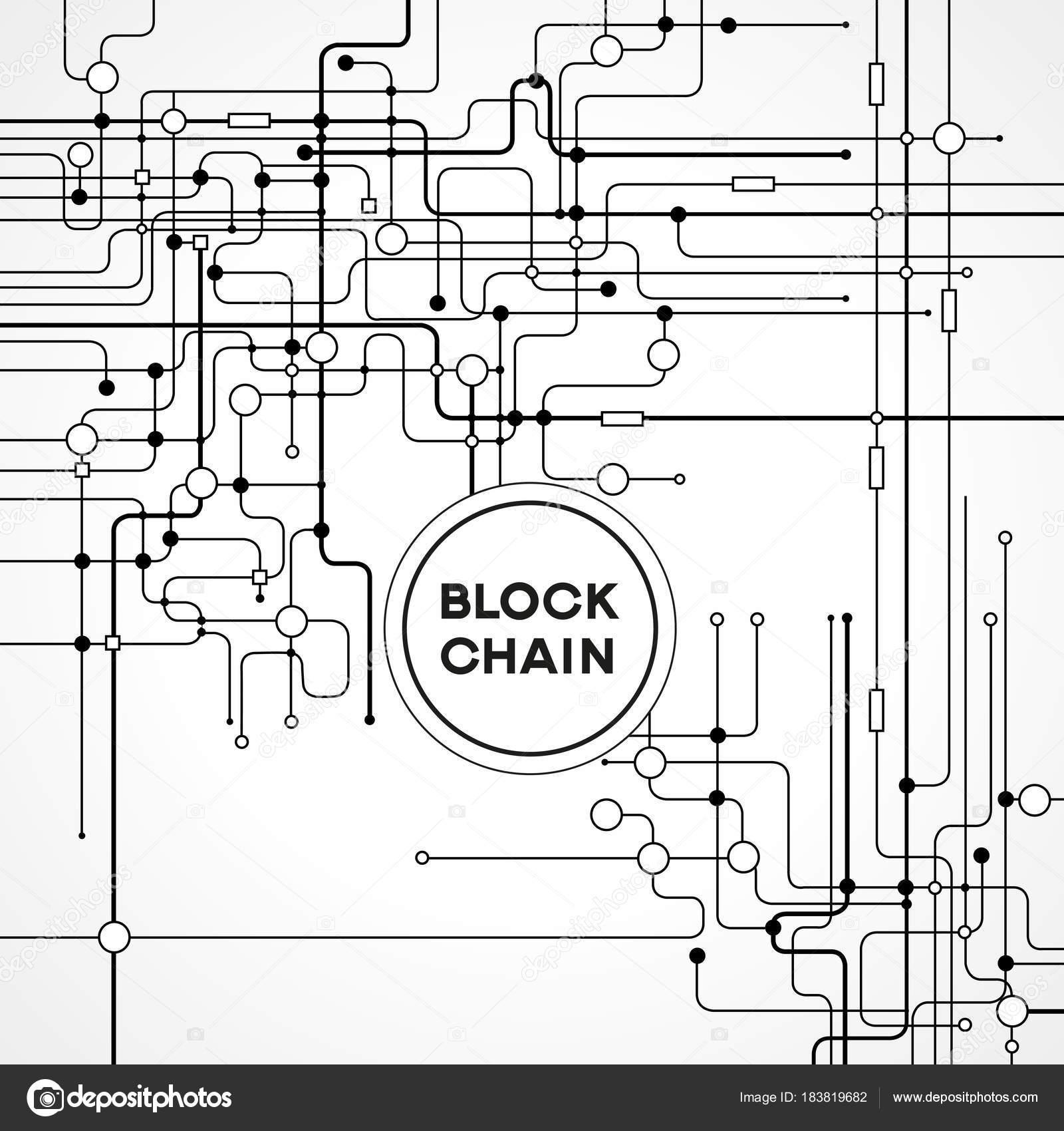 Blockchain Concepto Red Tecnología Contabilidad Distribuido Bloque ...