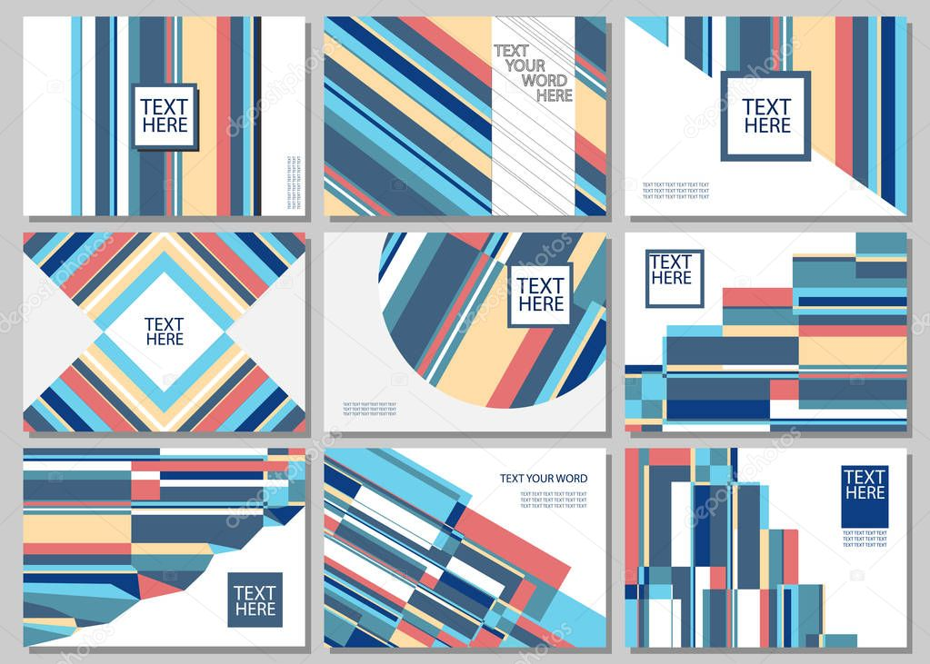 Set Of 9 Simple Geometric Graphic Covers Design Smart Background Template Vector Illustration Premium Vector In Adobe Illustrator Ai Ai Format Encapsulated Postscript Eps Eps Format,Mehndi Designs Easy And Simple Front Hand