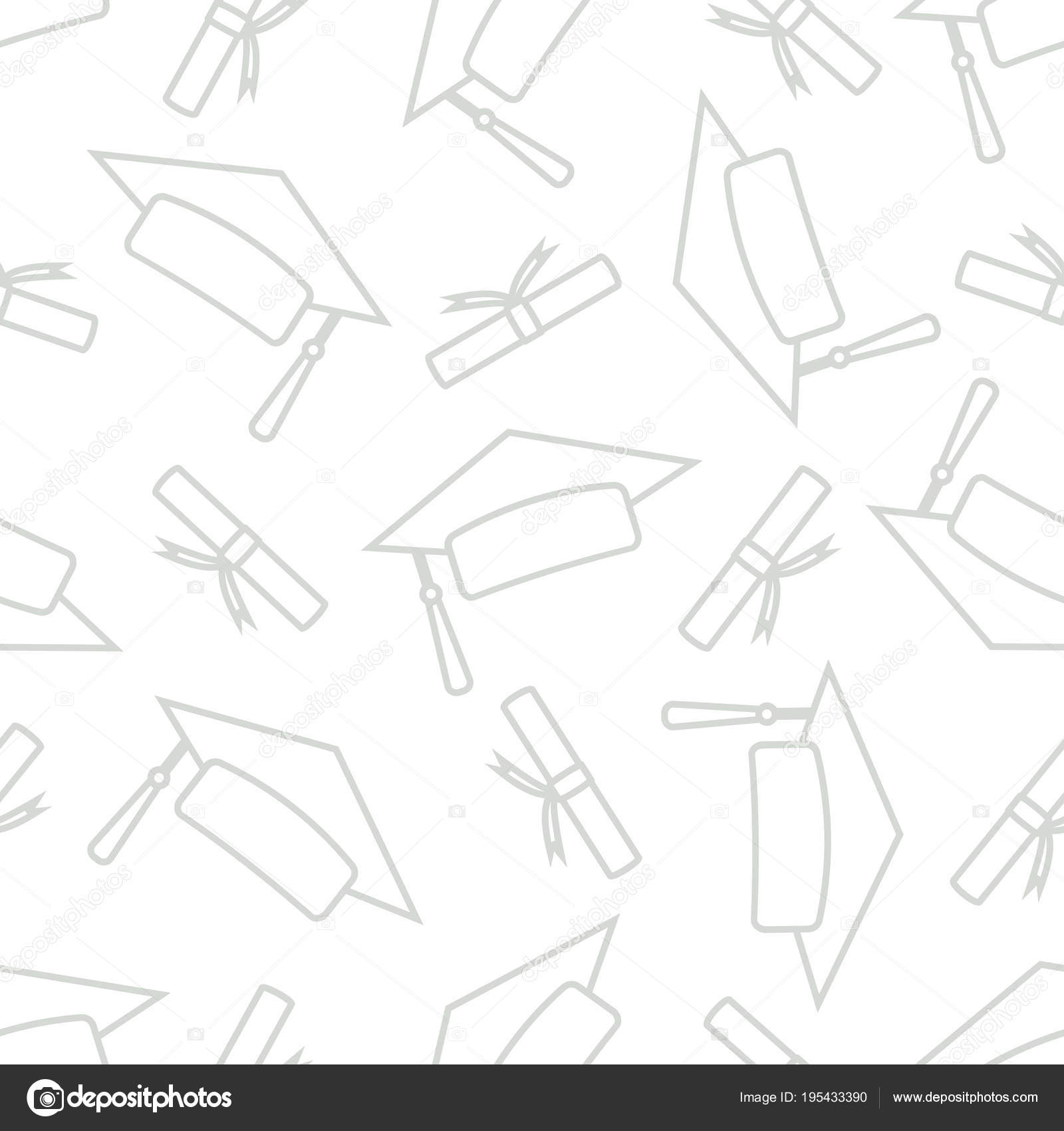 Postgrado tapas al azar sobre fondo blanco — Vector de stock ...