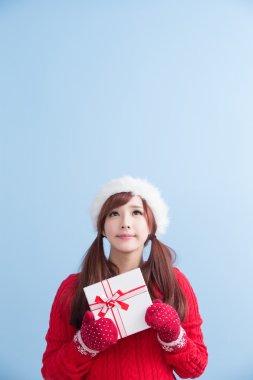 christmas beauty woman