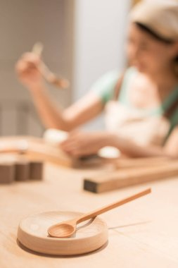 woman wood working