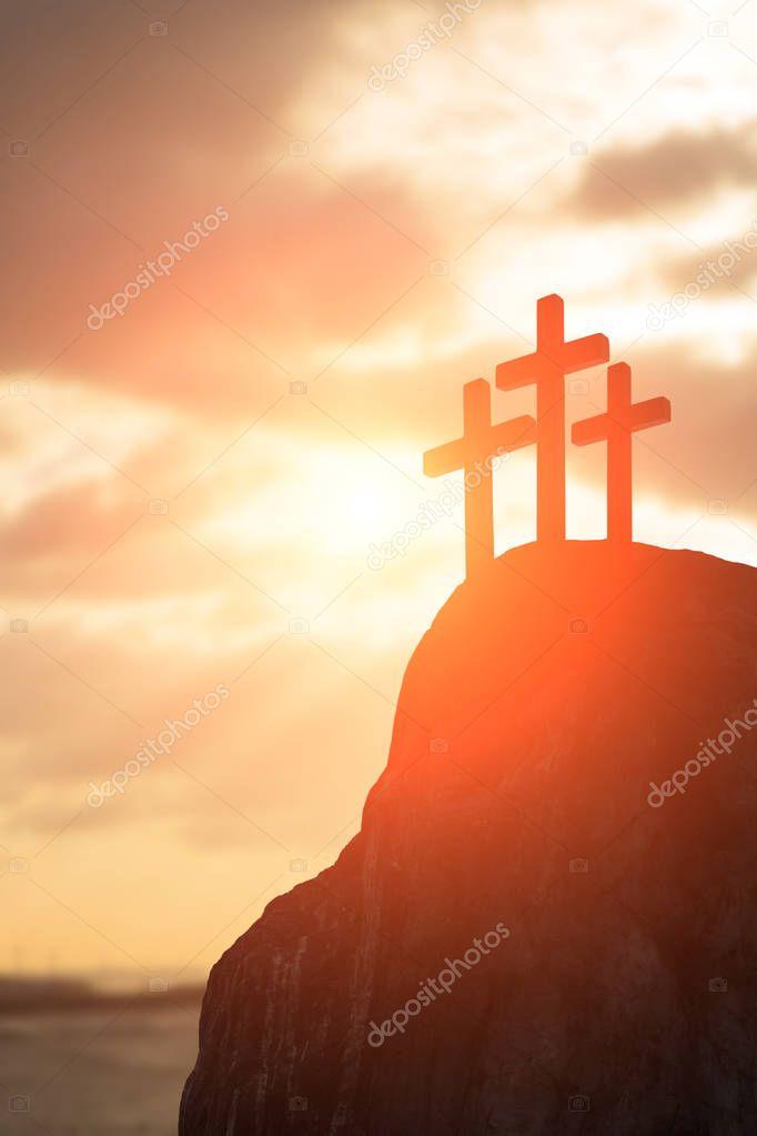 silhouette of cross