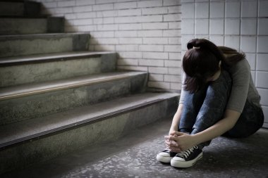 depressed woman feeling  upset