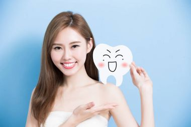 woman with  cute tooth