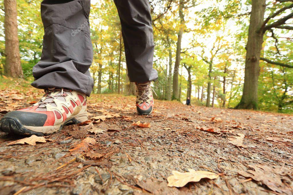 male  feet walking