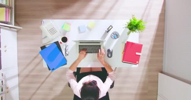 žena použít notebook do práce