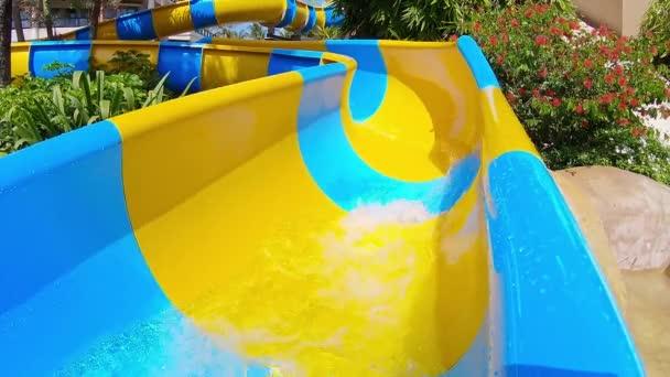 asian girl on water slide