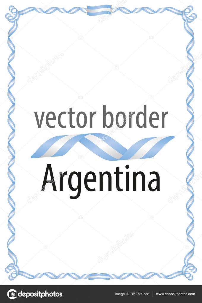 Marco y borde de cinta con los colores de la bandera for Paginas de chimentos argentina