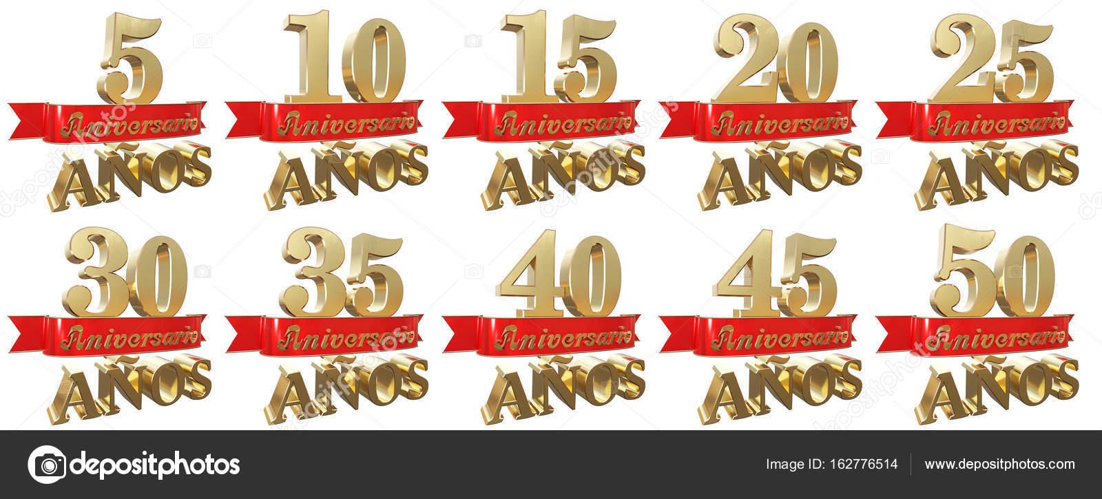 Satz Von Goldene Hochzeit Zeichen Symbole Ubersetzung Von Spanisch
