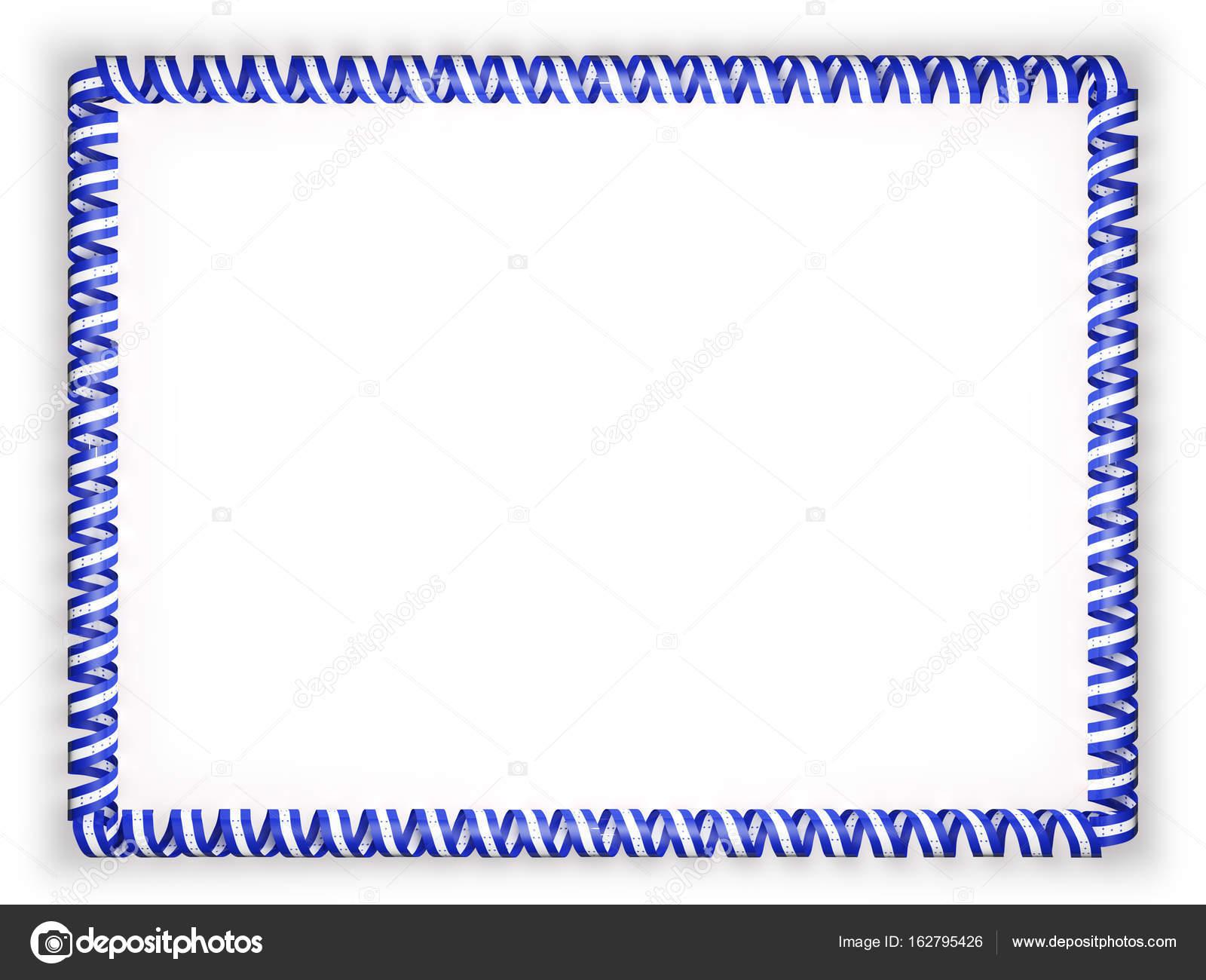 Marco y borde de la cinta con la bandera de Honduras. Ilustración 3D ...